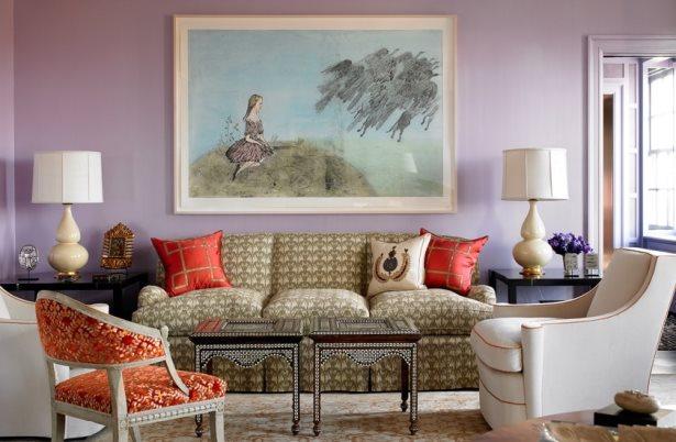 сочетания цветов стен в интерьере