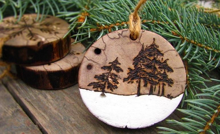 спил дерева в декоре