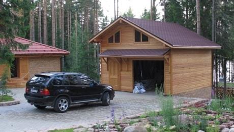 Отдельно стоящий гараж для автомобиля