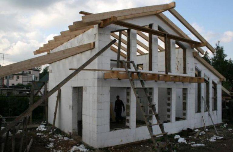 Строительство дома из несъемной опалубки видео