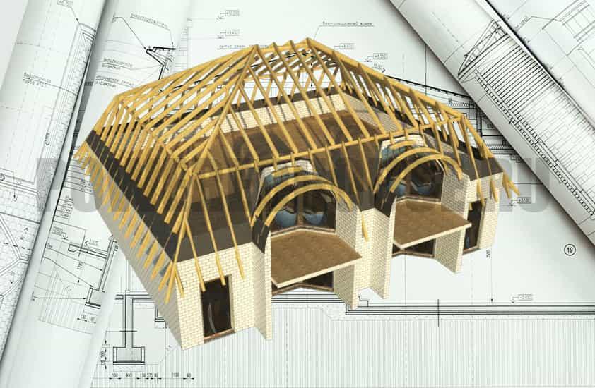 стропильная система крыши, нагрузки на крышу