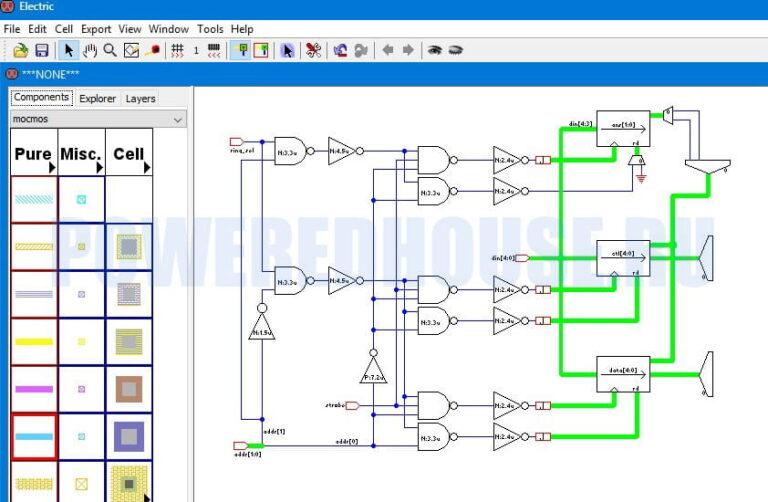 разработка электрических схем программа Electric VLSI Design System