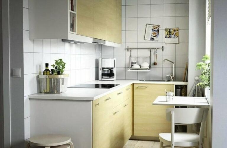 организация кухонного пространства - практичная маленькая кухня