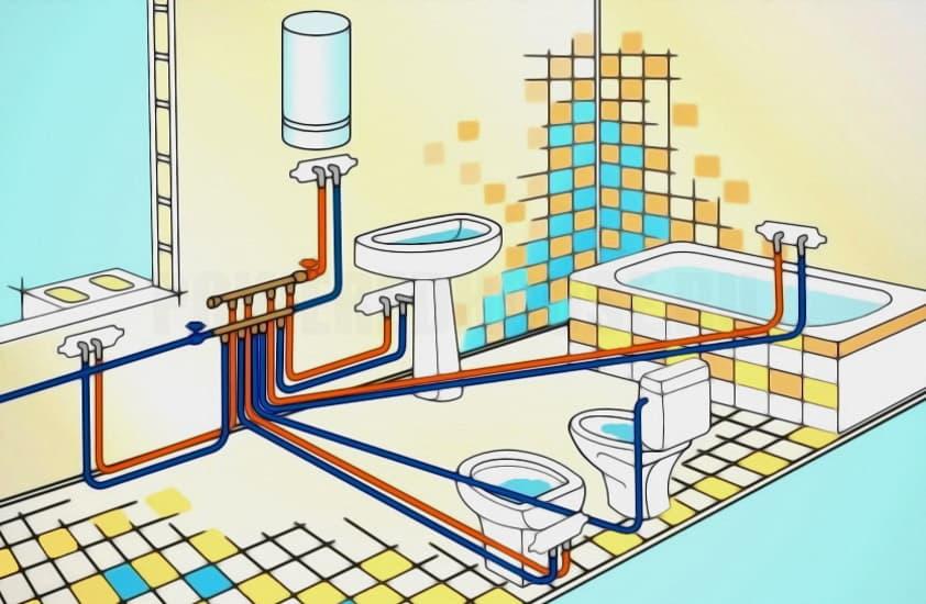 как спрятать трубы сантехнические в ванной, туалете, на кухне