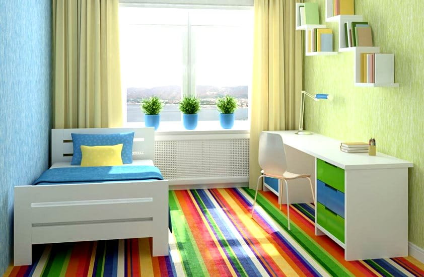 дизайн детской комнаты - оформление, материалы, свет, мебель