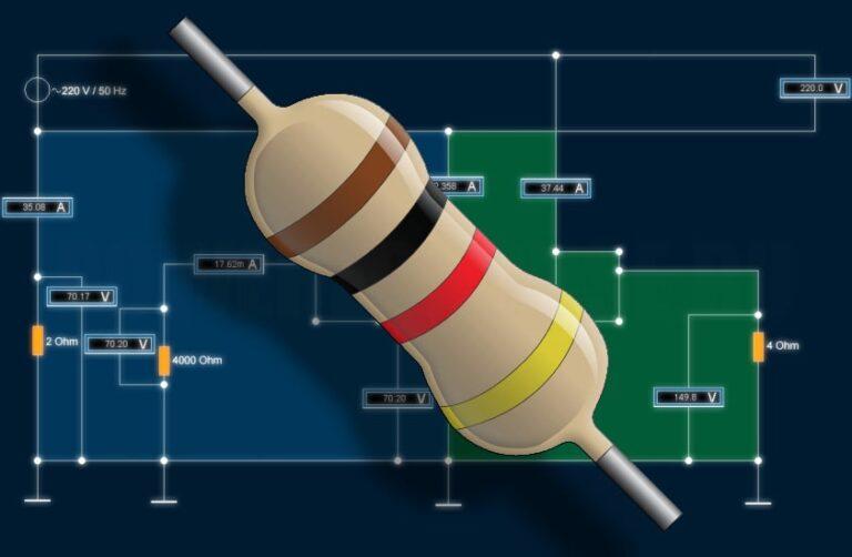 соединение резисторов последовательное, параллельное, смешанное, пример расчета